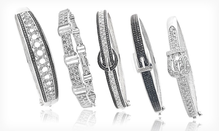 Diamond Bangles or Link Bracelets. Multiple Styles Available. Free Returns