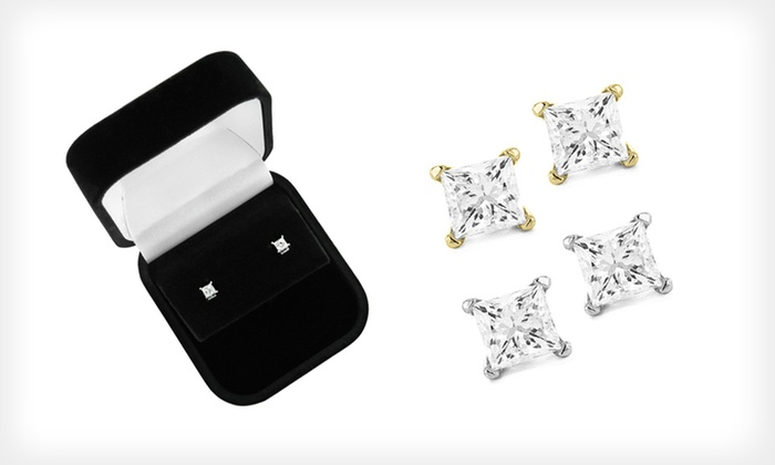 14-Karat Gold and Diamond Stud Earrings: $159.99 for 14-Karat White- or Yellow-Gold Diamond Stud Earrings ($299.99 List Price). Free Shipping and Returns.