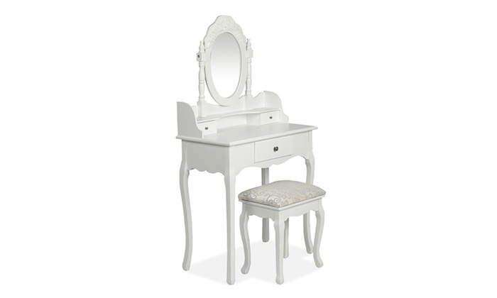 Antique style dressing table groupon goods for Coiffeuse meuble enfant