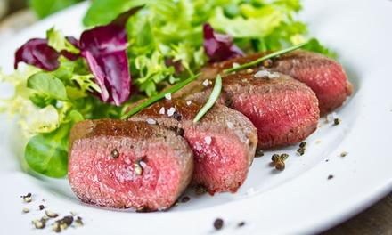 Menu con scelta di carni e vino a 24,99€euro
