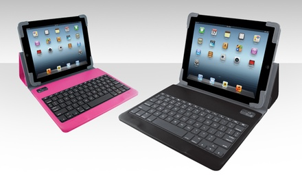 groupon daily deal - iHome Bluetooth Keyboard Case for iPad 2/3/4/5. Multiple Colors Available. Free Returns.