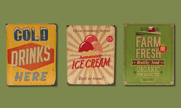 """11""""x14"""" Vintage Summer Sign Prints on Wood: $29.99 for an 11""""x14"""" Vintage Summer Sign Print on Wood ($109 List Price). Multiple Designs. Free Shipping and Returns."""
