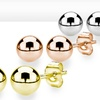 Set of 3 18K Gold-Plated Ball Studs