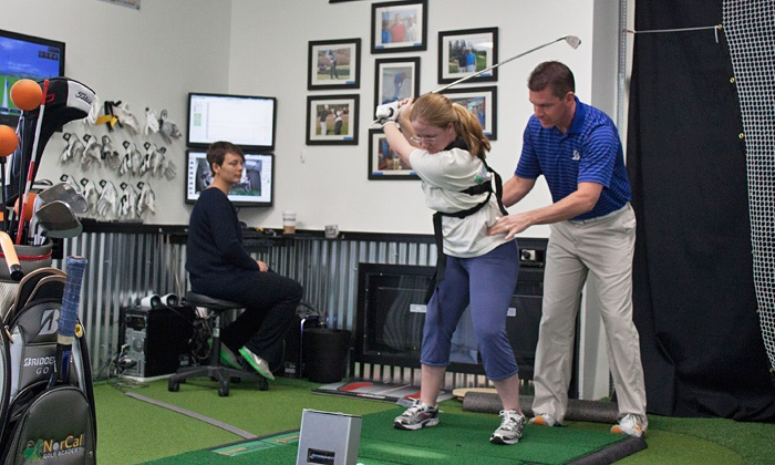 NorCal Golf Academy - Downtown Walnut Creek: Private Golf Lesson and Swing Analysis or Initial GolfEvaluation Package atNorCal Golf Academy (Up to67%Off)