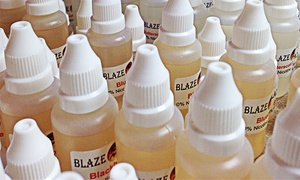Blaze Vapor Lounge & Smoke Shop: E-Liquids at Blaze Vapor Lounge & Smoke Shop (Up to 50% Off). Three Options Avaialble