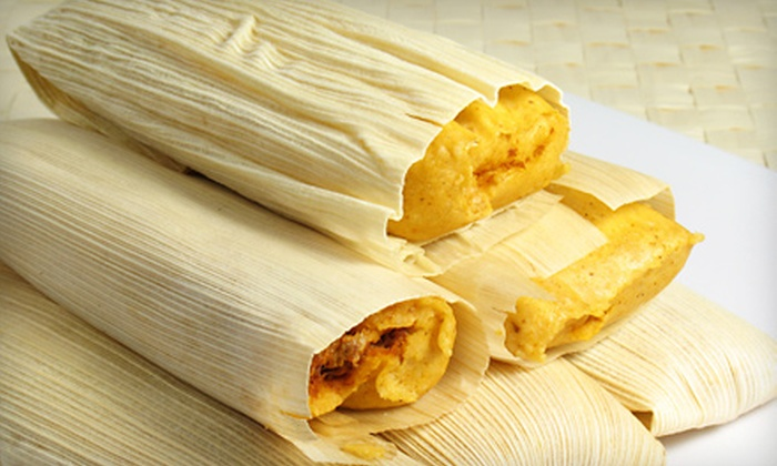 The Corn Flower - Scottsdale: 6 or 12 Tamales with Salsa at The Corn Flower (Up to 51% Off)