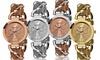 Akribos XXIV Women's Fashion Watches: Akribos XXIV Women's Mesh-Link Bracelet Watches in Gold Tone, Rose Tone, Silver Tone, or Two Tone