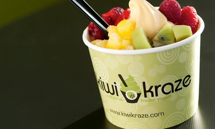 Kiwi Kraze - Multiple Locations: $13 for Five Groupons, Each Good for $5 Worth of Frozen Yogurt at Kiwi Kraze ($25 Total Value)
