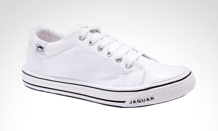 Desde $269 en vez de $385 por zapatillas Jaguar origen 320 en color blanco para retirar en sucursal
