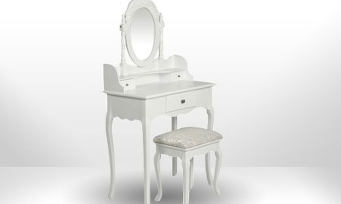 coiffeuse style baroque en bois groupon shopping. Black Bedroom Furniture Sets. Home Design Ideas
