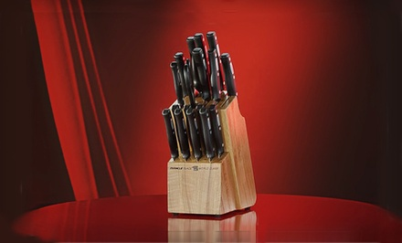 World Class 18-Piece Knife Set with Wood Block