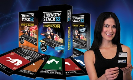 1 or 3 Packs of Strength Stack 52 Fitness Cards