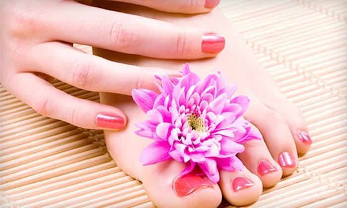 Salon D'Elegance - Carmichael: Express Gel Manicure, or Signature Manicure with Express Pedicure at Salon D'Elegance (Up to 53% Off)