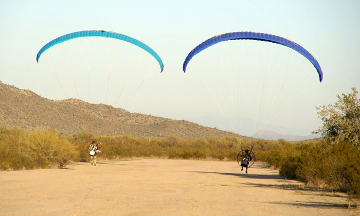Airparamo - Casa Grande: Paragliding Discovery Flight with Calendar and T-Shirt from Airparamo in Maricopa (Up to 51% Off)