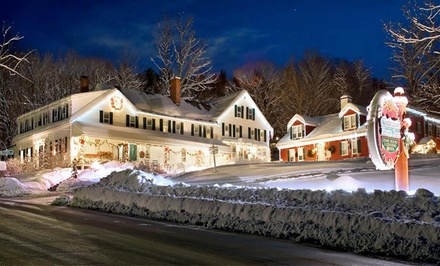 Groupon Deal: 1-Night Stay with Complimentary Bottle of Wine at Christmas Farm Inn and Spa in Jackson, NH