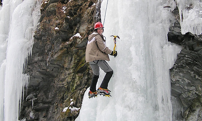Vertical World Adventures - Multiple Locations: $104 for a Full-Day Ice-Climbing Adventure from Vertical World Adventures ($225 Value)