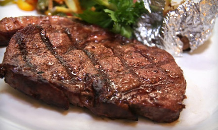 Mesquite Grill - Greenwood Village: Steak, Seafood, and Chicken Fare at Mesquite Grill in Greenwood Village (Half Off). Two Options Available.