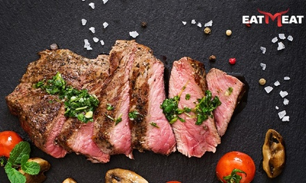 Steak with Side and Drink for Two or Four at Eat Meat