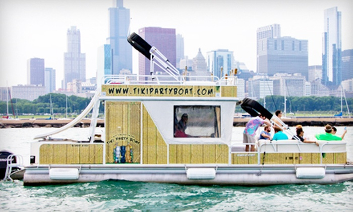 Tiki Party Boat - Chicago Lakefront: $349 for Three-Hour Boat Rental on a Weekday for 12 People at Tiki Party Boat ($705 Value)
