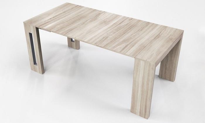 table extensible groupon. Black Bedroom Furniture Sets. Home Design Ideas