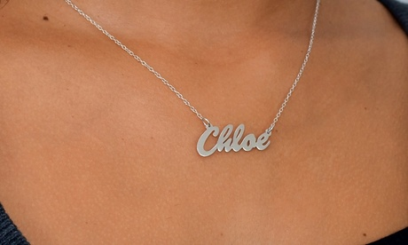 Custom Name Necklace in Sterling Silver or Gold Over Silver from Monogramhub.com (Up to 77% Off).