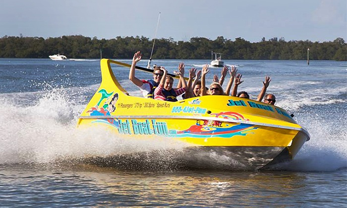 Jet Boat Fun LLC - Salty Sam's Marina and Parrot Key Caribbean Grill: $47 for a 30-Minute Jet Boat Thrill Ride for Two from Jet Boat Fun LLC ($78 Value)