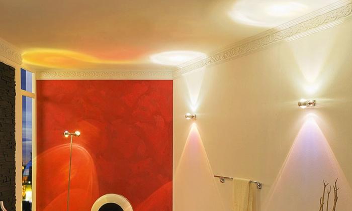 led wandleuchte mit lichteffekten groupon goods. Black Bedroom Furniture Sets. Home Design Ideas