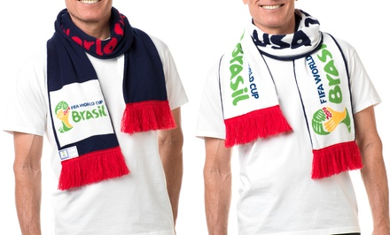 groupon daily deal - 2014 FIFA World Cup USA Scarf. Free Returns.