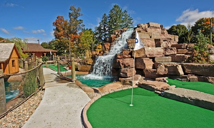 One or Three Family Mini Golf Passes or 18 Holes of Golf for Two or Four at Dunnderosa Golf Club (Up to 57% Off)