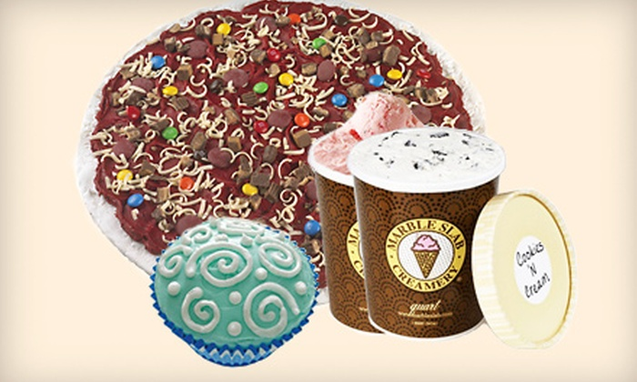 Marble Slab Creamery - Kingsgate Center North: $5 for $10 Worth of Take-Home Cakes, Cupcakes, Ice-Cream Pizzas, and Quarts of Ice Cream at Marble Slab Creamery