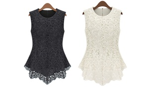 Women's Embroidered Lace Top by Jade & Juliet at Women's Embroidered Lace Top by Jade & Juliet, plus 9.0% Cash Back from Ebates.