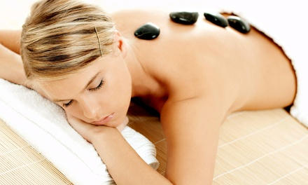 One or Two Hot-Stone Massages with Leg-Firming Treatments at Luxe Beauty Lounge (Up to 52% Off)
