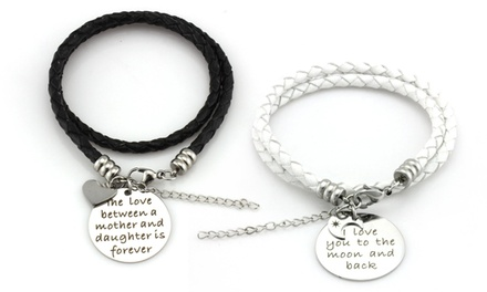 $15 for a Leather Wrap Bracelet with Sentimental Charm from Balla Bracelets ($109.99 Value)