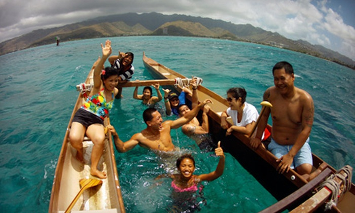 Hawaiian Surf Adventures - Hawaii Kai: Two-Hour Hawaiian Double-Hull Canoe Lesson and Tour for Two or Four from Hawaiian Surf Adventures (Up to 55% Off)
