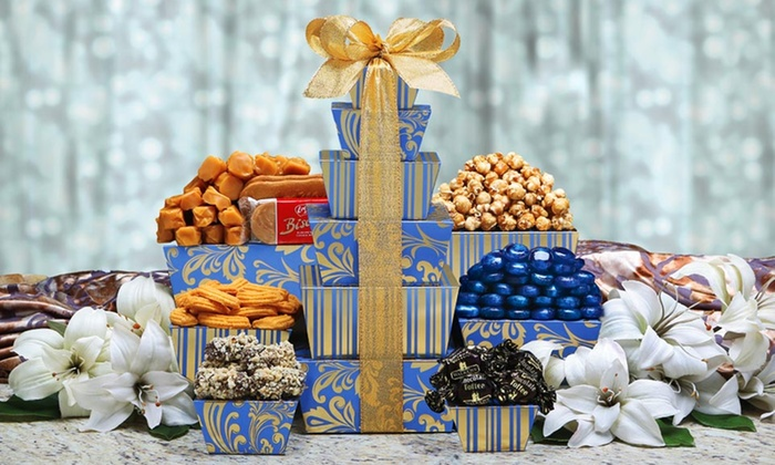 $21.99 for a Tower of Sweets Gift Basket & Wine Country Gift Baskets | Groupon Goods