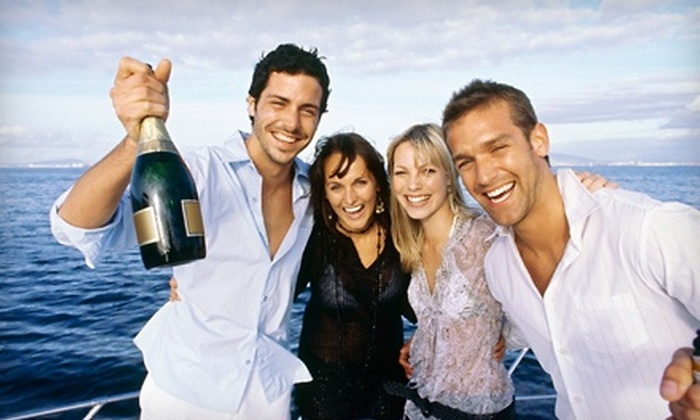Boston Event Guide - Seaport / Commonwealth Pier: Summer Party Cruise or Rush-Hour Cruise for Two from Boston Event Guide (Half Off). Nine Dates Available.