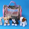 Plush Meowing Toy Kittens with Carrier