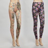 2-Pack of Sofra Floral Printed Leggings