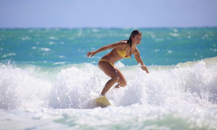 Triple X Surf and Skim - N Atlantic Ave: One Group Surfing Lesson or Semi-Private Lesson or Three Group Lessons at Triple X Surf and Skim (Up to 53% Off)