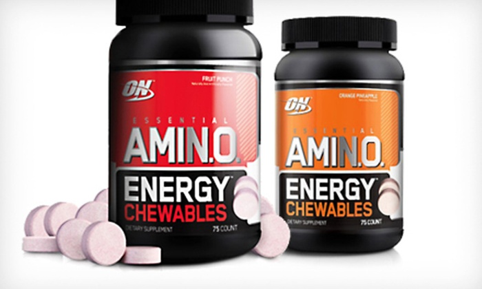 Optimum Nutrition Amino Energy Chewables: $10 for Optimum Nutrition Essential Amino Energy Chewables ($45.99 List Price). Two Flavors Available.