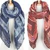 Jewel Print Fashion Wrinkle Scarves