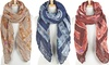 Jewel Print Fashion Wrinkle Scarves: Jewel Print Fashion Wrinkle Scarves