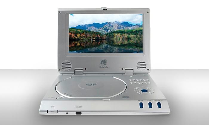 digital labs portable dvd player groupon goods. Black Bedroom Furniture Sets. Home Design Ideas