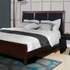 3-Panel Headboard with Solid Wood Bed Frame