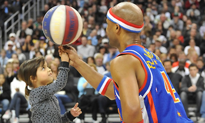 Harlem Globetrotters - Multiple Locations: Harlem Globetrotters Game on Friday, February 15, or Saturday, February 16 (Up to Half Off). Seven Options Available.