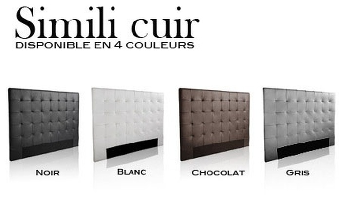 t te de lit capitonn e taille et coloris au choix groupon shopping. Black Bedroom Furniture Sets. Home Design Ideas