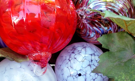 $39 for Holiday-Ornament-Making Workshop, Snowman-Building Workshop, or Both–Slow Burn Glass ($80 Value)