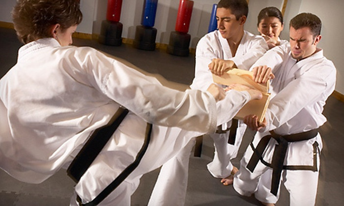 Charlotte Martial Arts Academy - Brookhill: 15 Karate Classes with Uniform or Month of Kickboxing Classes with Gloves at Charlotte Martial Arts Academy (Up to 90% Off)