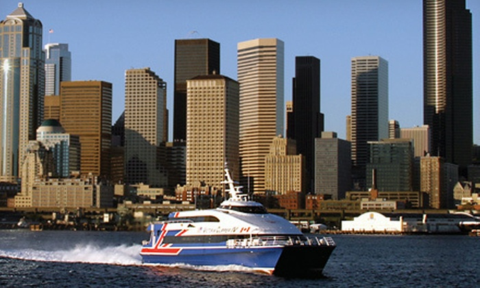Clipper Vacations - Multiple Locations: $74 for a Round-Trip Boat Ride from Victoria to Downtown Seattle from Clipper Vacations (Up to $151 Value)