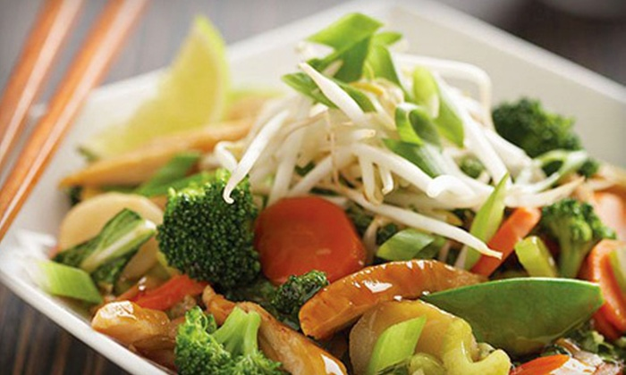 Wok Box Fresh Asian Kitchen - Spruce Grove: Pan-Asian Noodle or Rice Boxes for Lunch or Dinner at Wok Box Fresh Asian Kitchen in Spruce Grove (Up to 56% Off)